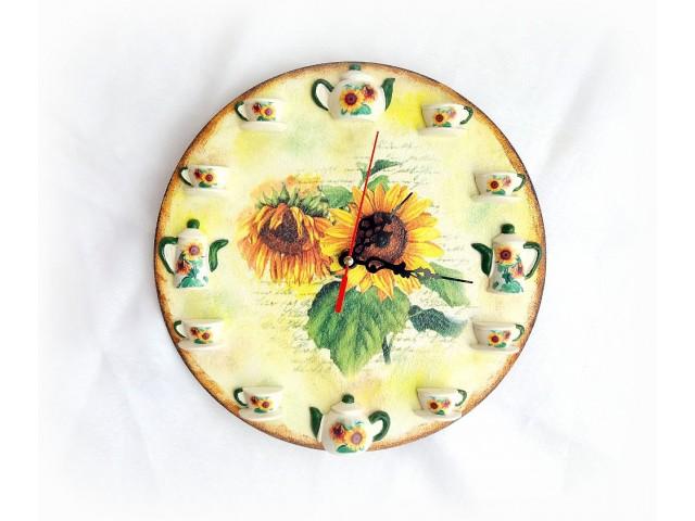 Ceas de perete - Floarea soarelui 122350