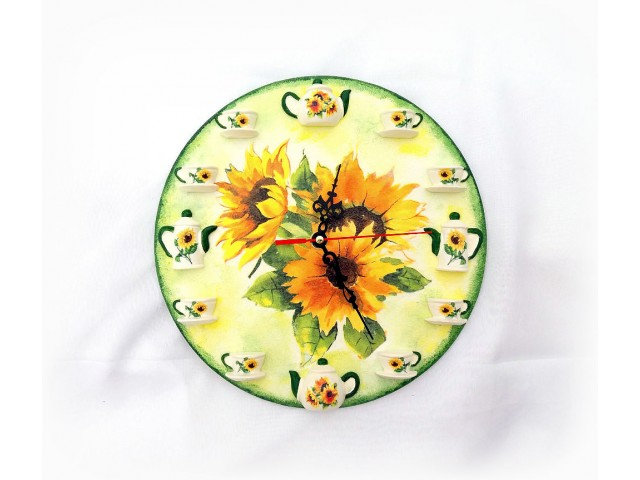 Ceas de perete - Floarea soarelui 131537