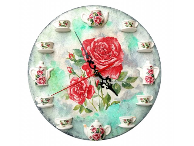 Ceas de perete - trandafiri 122053