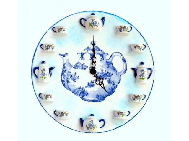 Ceas de perete - Blue Tea Time 0987