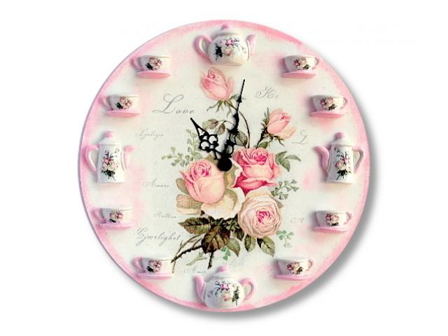 Ceas de perete - romantic roses 0998
