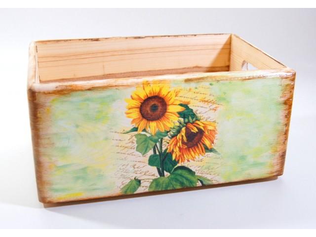 Ladita lemn - floarea soarelui