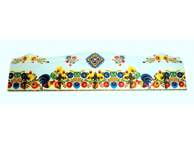 Cuier din lemn handmade motiv traditional 7505