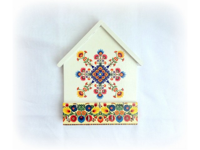 Cuier din lemn handmade motiv folk - etno - 122949
