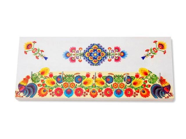 Cuier din lemn handmade motiv traditional -folk - 8204