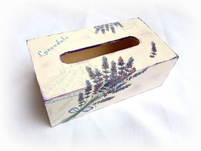 Cutie servetele de hartie - lavanda - 122614