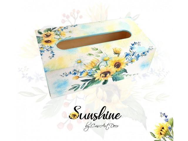 Cutie servetele de hartie - floarea soarelui 123540