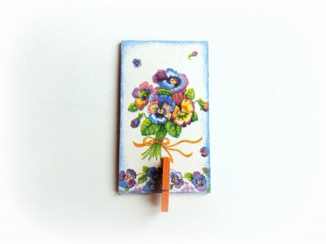 Magnet frigider cu cleme - panselute 131543