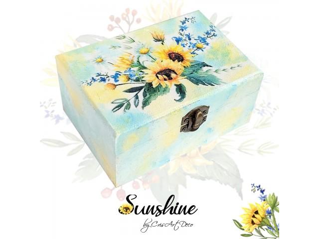Cutie lemn - Floarea soarelui - 114945