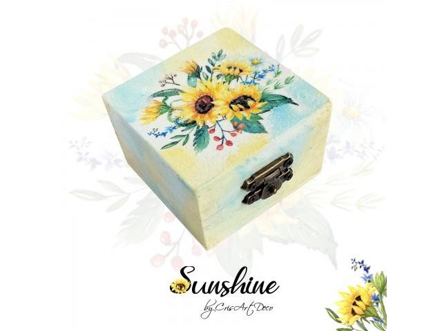 Cutie lemn - Floarea soarelui - 114727