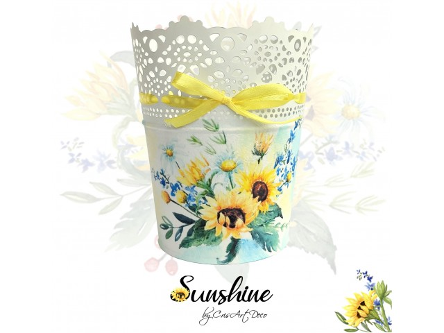 Ghiveci decorativ floarea soarelui  - 130844